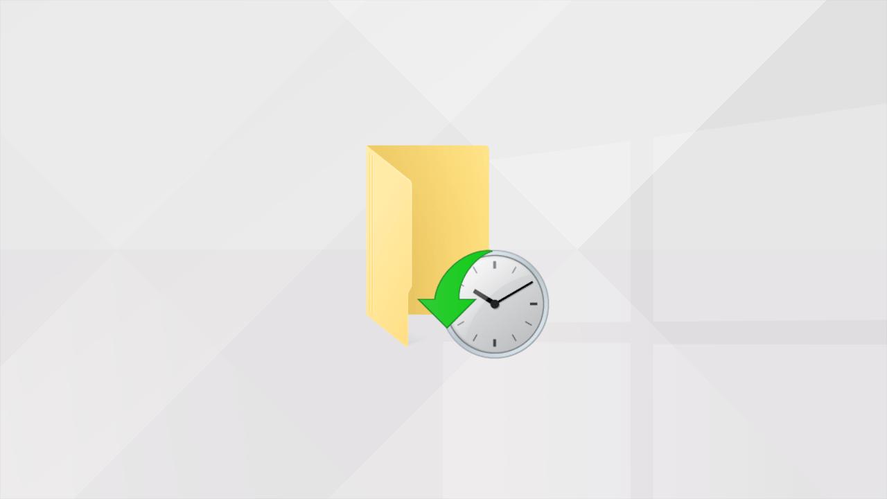 L'Historique des fichiers de Windows10 et 8