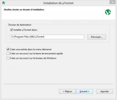 installation-utorrent-dossier-raccourcis