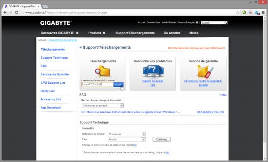recherche-modele-carte-mere-gigabyte