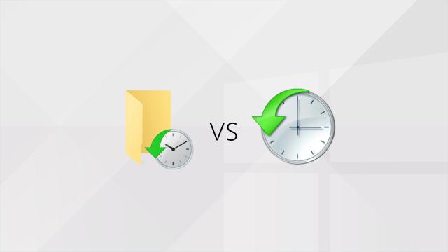 Windows : Historique des fichiers vs Versions précédentes