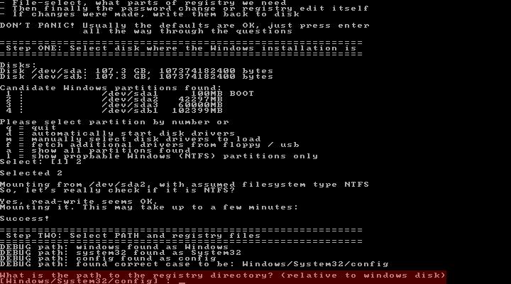 select-registry-offline-nt-password-registry-editor