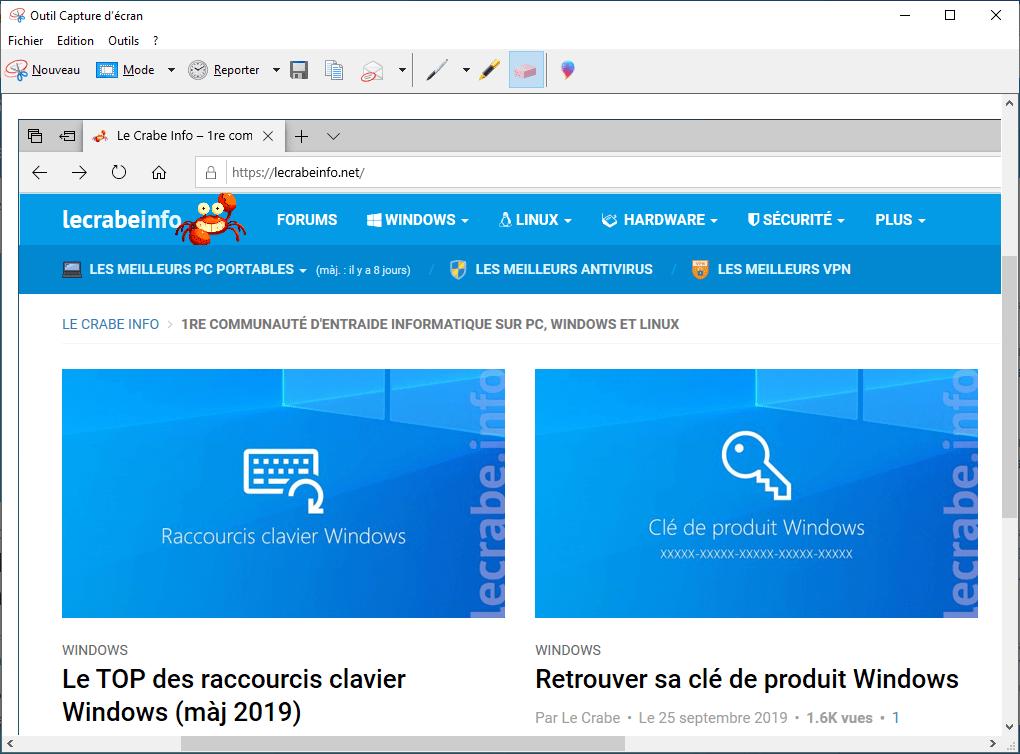 4 méthodes pour faire une capture d'écran sous Windows </p>                 <!--bof Quantity Discounts table -->                                 <!--eof Quantity Discounts table -->                  <!--bof Product URL -->                                 <!--eof Product URL -->             </div>             <div id=