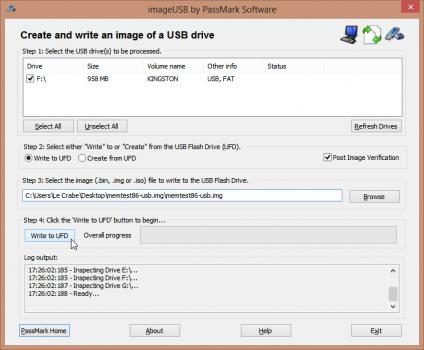 installer-memtest86-cle-usb