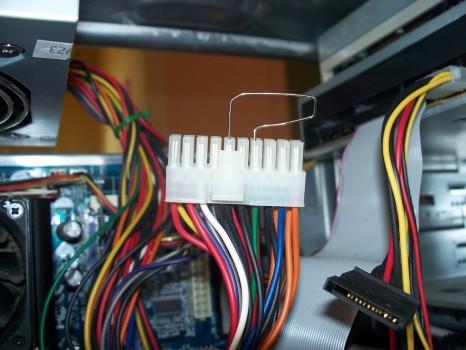relier-trombone-connecteur-atx-tester-bloc-alimentation-carte-mere