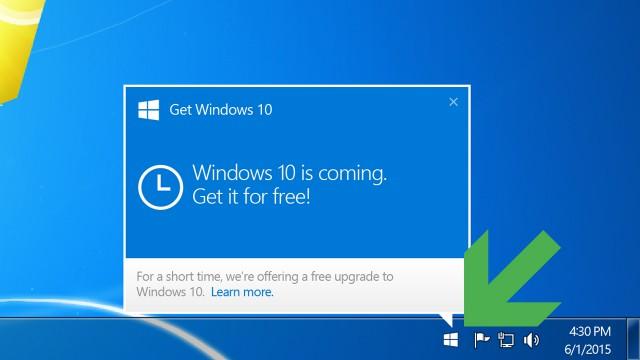 Comment activer l'icône de réservation «Obtenir Windows 10» sur Windows 7/8.1 ?