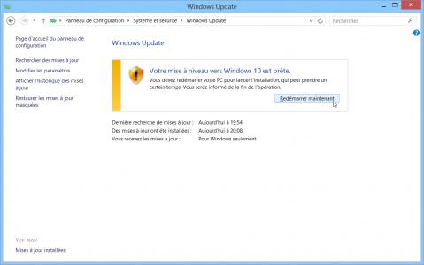 resoudre-echec-erreur-probleme-mise-a-jour-windows-10-sur-windows-update-mise-a-niveau-prete