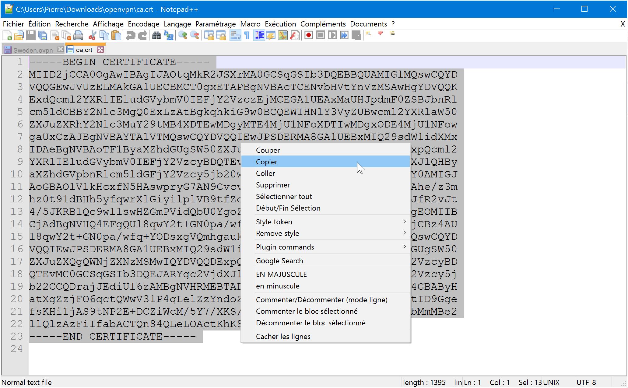 configurer-le-client-vpn-de-la-freebox-copier-ca-crt