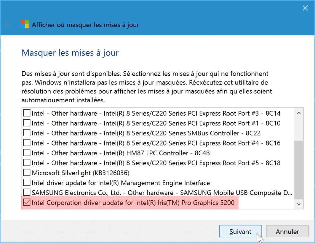 desactiver-empecher-cacher-une-mise-a-jour-windows-update-sur-windows-10-choisir-mises-a-jour-a-masquer