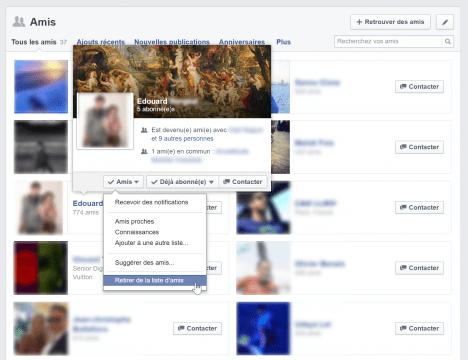 Supprimer plusieurs amis à la fois sur Facebook, une vraie corvée