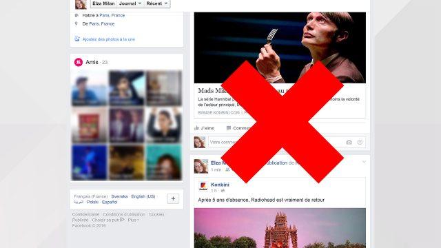 Supprimer toutes les publications de son mur Facebook