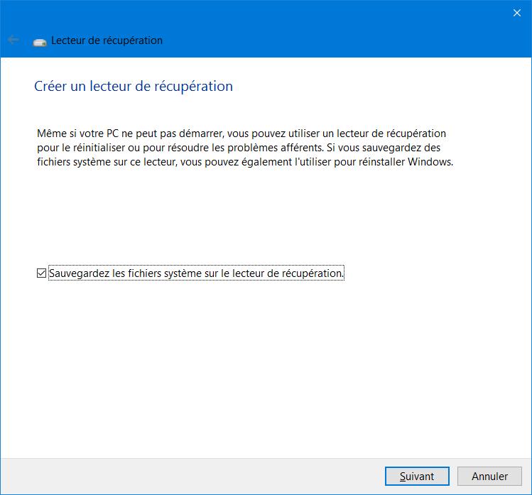 creer-lecteur-de-recuperation-usb-windows-10-menu-demarrer-creer-lecteur-recuperation-sauvegarder-les-fichiers-systeme-lecteur-recuperation