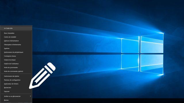 Personnaliser le menu Lien Rapide de Windows8et10