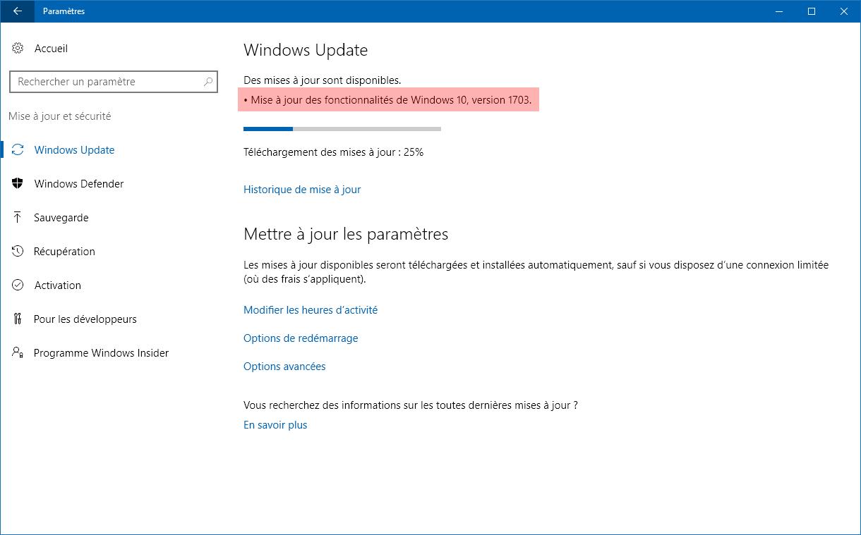19/06/2015· R : Avec Windows 10, une mise à jour gratuite de Windows 10 sera offerte pour les appareils Windows 7 et Windows 8.1 éligibles, et qui feront la mise à niveau dans la première année. Cette offre de mise à niveau est pour la version complète de Windows 10, pas une version d'essai ou temporaire de Windows 10.