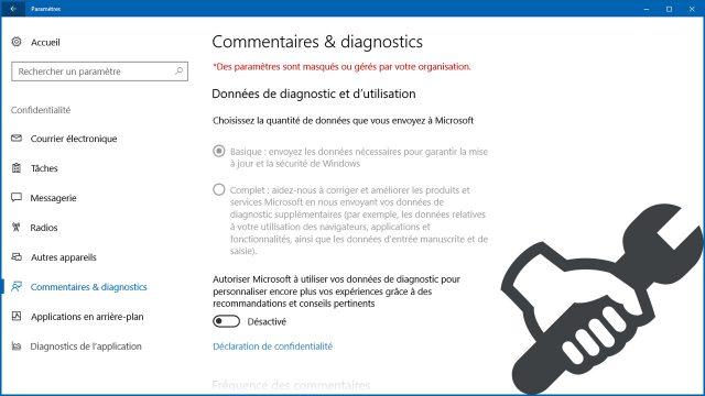 Windows 10 : «des paramètres sont masqués ou gérés par votre organisation»