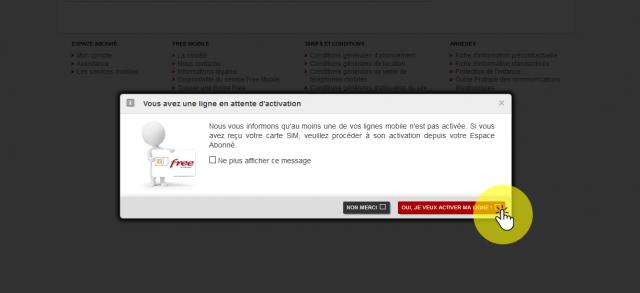 Activer sa ligne free. La datation.