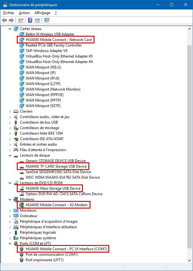 Huawei E3372 : installer / mettre à jour le firmware HiLink ou Stick