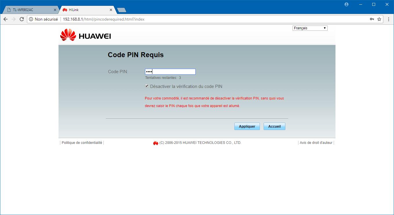 Installer et configurer sa mini-box 4G : TP-Link TL-WR902AC + Huawei