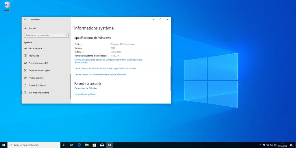 Windows 10.2021 (juin 2021 Update)