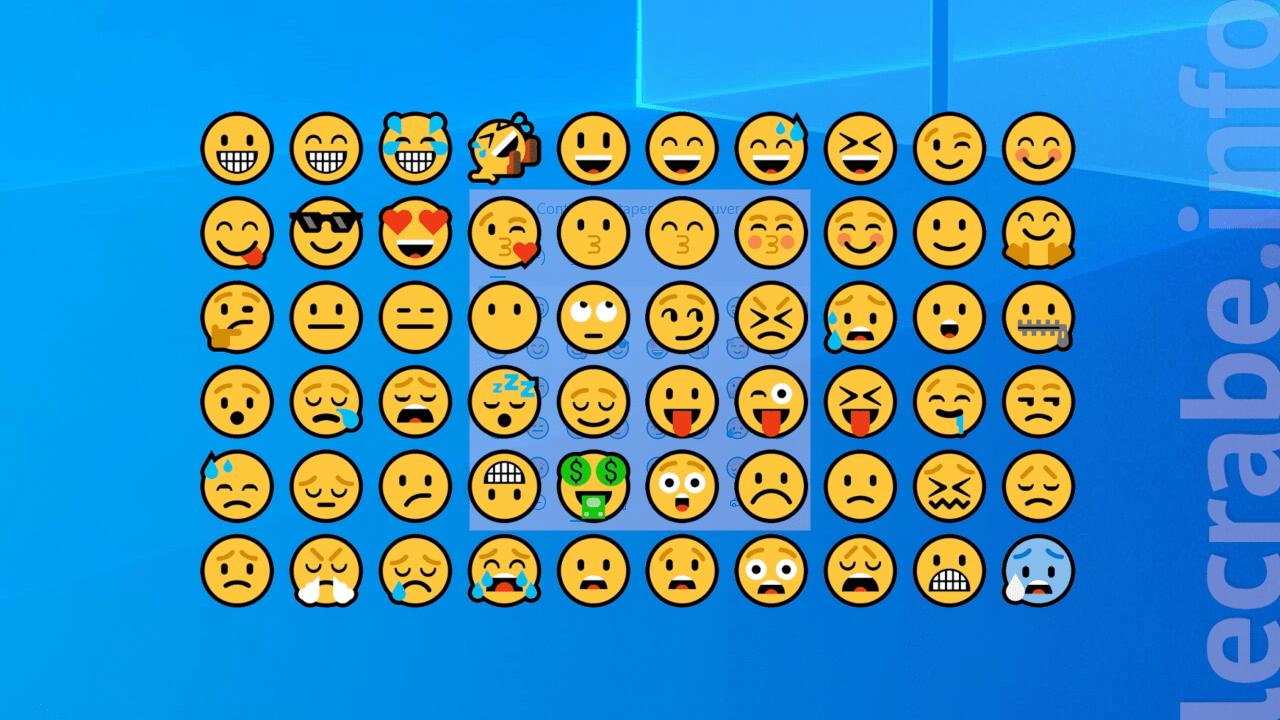 Windows 10 Ouvrir Le Clavier Des Emojis Le Crabe Info