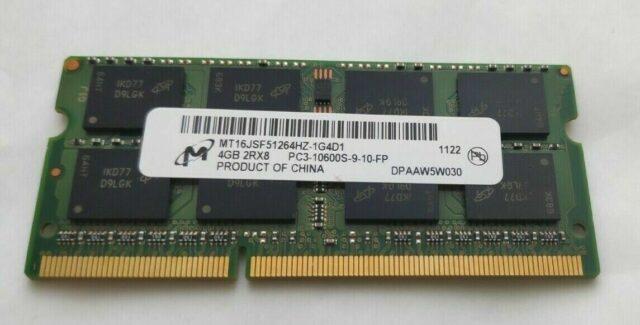 MicronMT16JSF51264HZ1G4D14GB2Rx8PC310600S910FPDDR31333MHzLaptopRAM